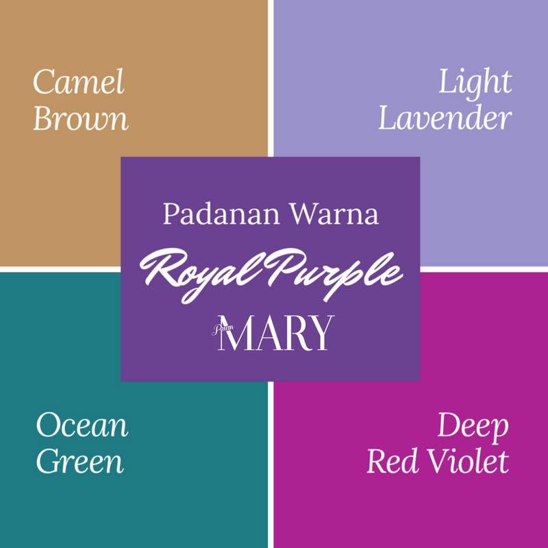 Ungu Kali Ini Adalah Yang Bernama Royal Purple Ianya Pekat Dan Mempunyai Sedikit Elemen Terang