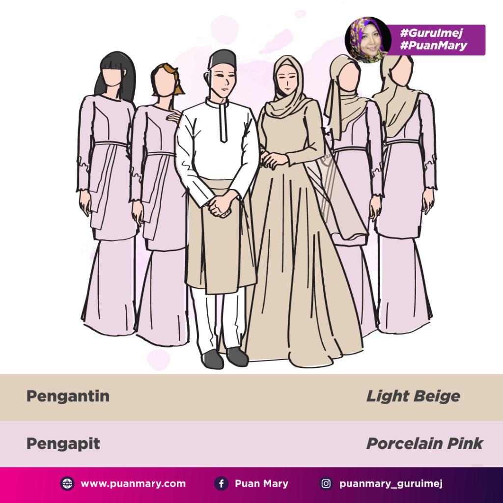 padanan warna pilihan baju bridesmaid (5)