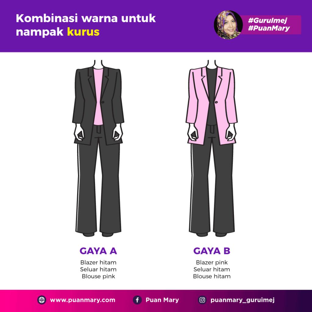 Tips Memilih Warna Pakaian Agar Kelihatan Lebih Kurus